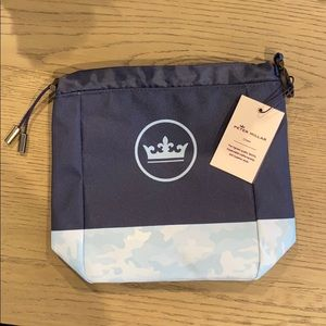 Peter Miller Crown Seal Valuables Pouch in Navy